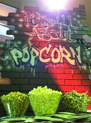 Popcorn Station by Pittsburgh Candy Buffet (Pittsburgh Candy Buffet) Tags: new york party urban table graffiti pittsburgh candy pennsylvania popcorn theme buffet favors flavored pittsburghcandybuffet pittsburghcandy pittsburghcandytable
