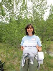 Dr. Brigitte Le Normand (jamica1) Tags: canada smiling sign creek university bc jane historian walk ubc columbia mission british kelowna jacobs professor greenway ubco okanaan brigittelenormand