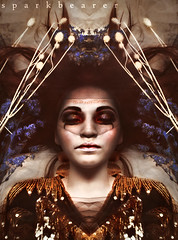 gold hall funeral (sparkbearer) Tags: flowers blue red portrait cold strange canon dead death gold golden blood digitalart dry funeral sparkbearer chelseaknight