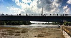 08.06.2013: an der Pegelanzeige (gegen 12:45 Uhr).