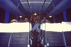 After unloading the plane (seriously) (JF Sebastian) Tags: portrait bus night friend funny group bolivia tired scannedslide santacruzdelasierra rutaquetzal digitalized morethan100visits morethan250visits rutaquetzal1996 oldfilmautomaticcamera