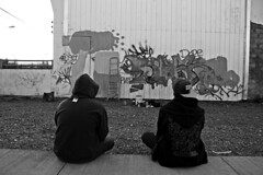 (Yokosuka Nights) Tags: blackandwhite graffiti paint retro pintura vandals vandalos puntaarenas graffitiporn