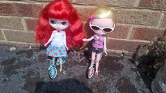 The dollies are going cycling.