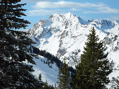 Alta Ski Resort, Utah (Utah Images - Douglas Pulsipher) Tags: winter snow ski utah skiing snowy peak alpine skiresort alta peaks snowymountains littlecottonwoodcanyon wintersports wasatchmountains albionbasin altautah snowcoveredmountains wintermountains altaskiresort superiorpeak