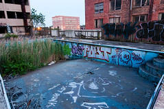 Pool Party (.:Axle:.) Tags: roof sunset abandoned rooftop hotel nikon dusk decay indiana urbanexploration gary ue urbex in d300 nikond300 afsnikkor1424mm128g