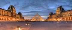 piramide (Pedro Cordeiro Photografy) Tags: sunset paris louvre panoramic hdr piramide