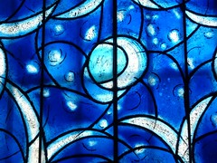 Mainz, Germany, St. Stephan Mainz, Stained Glass Window (Artist: Marc Chagall) (Mary Warren 11.4+ Million Views) Tags: blue window glass architecture cathedral stainedglass marcchagall mainzgermany citrit ststephanmainz
