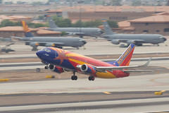 Southwest Boeing 737 -Arizona One- N383SW-6449 (rob-the-org) Tags: southwest iso100 noflash 300mm cropped boeing f11 250 737 phx phoenixaz arizonaone kphx n383sw 1125sec skyharborinternational
