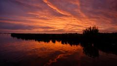 Sunset at the lakeside (PortSite) Tags: camping sunset holland netherlands night zonsondergang nikon cloudy nederland paysbas friesland landschap portsite heeg heegermeer 2013 d3s hegemermar lânenmar
