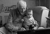 Skyping (jayneboo) Tags: old portrait people bw baby 35mm computer mono technology young age skype empowered greatgrandfather communicate 89 humaninterest odc greatgranddaughter odc2 aged8months