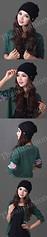 HW-0003-หมวกไหมพรมโครเชต์ลายละเอียดใส่กระชับศีรษะและใบหูอบอุ่นเรียบหรูมีสไตล์-สีดำ