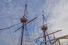 Mayflower Masts (BFS Man) Tags: sky cloud ship pentax massachusetts mast