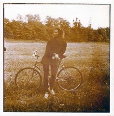 Childhood (Kontramax) Tags: old travel blackandwhite bw holiday film monochrome bike sepia warm outdoor weekend duotone toned velobike