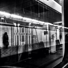 Euler (Illusivegent) Tags: blackandwhite toronto underground subway iphonography bureboke