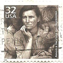 """""""Celebrating the century""""- the 1930s / / /USA 1930s Dorothea lange (sftrajan) Tags: 1930s stamps stamp dustbowl timbre greatdepression commemorative postagestamp philately americanhistory sello briefmarke"""