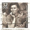 """""""Celebrating the century""""- the 1930s / / /USA 1930s Dorothea lange (sftrajan) Tags: 1930s stamps stamp dustbowl timbre greatdepression commemorative postagestamp philately americanhistory sello briefmarke 邮票 почтоваямарка филателия डाकटिकट"""