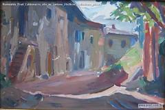 Romualdo Prati Caldonazzo olio su cartone 24x36cm Collezione privata