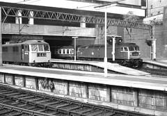 New Street station 002 (FrMark) Tags: uk england monochrome train birmingham britain railway gb 70s seventies newstreet midlands