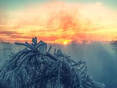 misty (beachbum prints) Tags: winter ice sunrise niagara falls