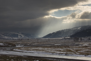 Shaft of sun in Lamar Valley