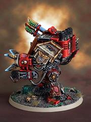 Maximilian Sole (Scott Steinhart) Tags: red blood marine space 40k warhammer ravens dreadnought