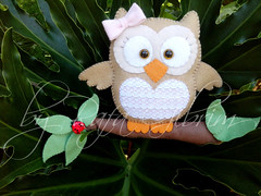Corujinha (Feito a mo [by Rafa]) Tags: cute artesanato felt owl coruja feltro fofo meninas enfeite feminino fieltro corujando vision:plant=0677 vision:sky=0659 vision:outdoor=0685