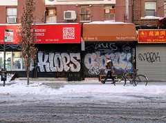 Klops Abra (carnagenyc) Tags: nyc newyork graffiti abra skid snowbombing merck sen4 klops swob vision:text=0571 vision:sunset=0503 vision:car=0598 vision:sky=0586 vision:outdoor=0936