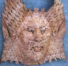 naga 4 (origami joel) Tags: face paper origami mask joel cooper tessellation origamijoel