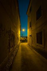 Lisboa (p_v a l d i v i e s o) Tags: bridge portugal alley view dusk lisboa lisbon perspective ponte25deabril 25deabril crepsculo darkalley travessa narrowalley alcntara 1635mm ef1635mmf28ii canoneos5dmarkiii 5d3 ilobsterit travessabaluarte travessaescura