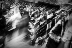 ghost stories and other urban legends (MdKiStLeR) Tags: street city urban bw abstract motion blur japan tokyo movement energy asia experimental crossing candid shibuya intersection conceptual icm 2014 pastpresentfuture urbanx mdkistler findingyourselfinthestreets potd:country=gb copyrightmichaelkistler iwillbluryourass ghoststoriesandotherurbanlegends