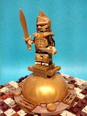 Golden Statue of Maximus (ACPin) Tags: toys lego minifig moc acpin brickwarrior