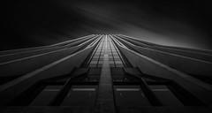 Reaching (AirHaake) Tags: architecture portland wellsfargocenter blackandwhitephotography blackandwhite mono monochrome atmosphere abstract