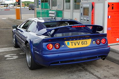 Lotus Esprit S4 (D's Carspotting) Tags: lotus esprit s4 france coquelles calais blue 20100613 tvv613 le mans 2010 lm10 lm2010