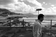 Genova (Valt3r Rav3ra - DEVOted!) Tags: streetphotography street sonyalpha7 sony valt3r valterravera visioniurbane urbanvisions persone people mare sea liguria genova bw biancoenero blackandwhite digitale water mediterraneo