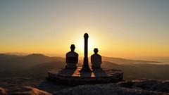 DSC_0117² (vincent.azcue) Tags: coucher de soleil sunset mountain stunning view landscape perfect paix peace nikon d3300 pays basque la rhune silhouette chill contre jour contraluz sunlight sky nature hiking sun randonnée
