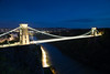 MRP_0291 (preedyphotos) Tags: bristol avon martinpreedy canon eos1dx clifton suspensionbridge nighttime traffictrail brunel bridge pillars night evening twilight river fulltide reflections