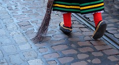 FREIBURG - TRADITIONAL SHOES OF STRAW (Punxsutawneyphil) Tags: europe europa freiburgerhexen freiburg freiburgimbreisgau deutschland german germany alemania deutsch fastnachtszunft narr narren narrenzunft karneval carnival fasnet fastnacht fasching disguise shoes schuhe stroh strohschuhe straw shoesofstraw besen fegen hexe witch tradition kostüm baden badenwuerttemberg badenwürttemberg fribourgenbrisgau alemannisch alemannic rotesocken redsocks red rot