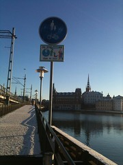 Stockholm (2015) (alexismarija) Tags: stockholm sweden europe winter christmas scandinavia kungsholmen gamlastan bridge water architecture riddarholmen church riddarholmskyrkan riddarholmenchurch