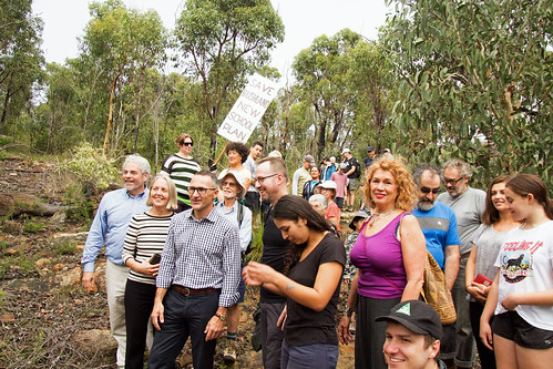 Protest at Manly Dam