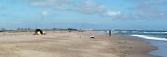 Les pêcheurs (brigeham34) Tags: balade printemps mars beautemps littoral merméditerranée vagues écume plage sable promeneurs pêcheurs dunes bleu maisons paysage panorama montage2photos sérignanplage hérault occitanie france eu fz45