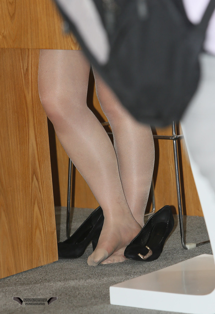 Pantyhose foot dangling pictures