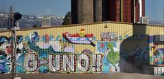 Day 2 aboard the California Zephyr (Adventurer Dustin Holmes) Tags: 2017 scenery traintrip traintravel californiazephyr graffiti guno