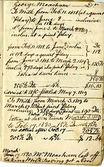 Sixth page of the Cambridge Milk Dealer Account Book (Cambridge Room at the Cambridge Public Library) Tags: cambridgemass commercemilkbusiness accountbooks milkdelivery