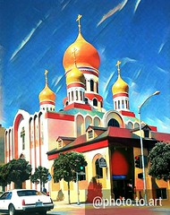 (sftrajan) Tags: california edited 2017 russian orthodox cathedral domes geary gearyboulevard sanfrancisco church therichmond richmonddistrict cameraphone holyvirginrussianorthodoxcathedral outerrichmond android cellphone