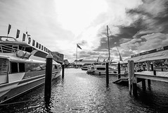 DSC00588 (Damir Govorcin Photography) Tags: blackwhite sky clouds boats water darling harbour sydney natural light perspective creative composition zeiss 1635mm sony a7rii