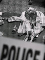 crime scene (116/365) (werewegian) Tags: bones skeleton crimescene police donotcross university apr17 werewegian glasgow 365the2017edition 3652017 day116 26apr17