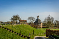 Chapel on the dike 2 (stevefge) Tags: bovenleeuwen maasenwaal gelderland dijk maas rivers chapel landscape nederland netherlands nl nederlandvandaag reflectyourworld