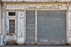 Alexandre D..... (Isa-belle33) Tags: architecture urban urbain city ville door porte old abandoned shop boutique magasin fuji fujifilm fujixt1 aquitaine charente limoges wall mur