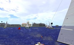 IF@FIYC - Action at 1st mark in race 2 (vivipezz) Tags: secondlife sailing sl fiyc bandit if racing