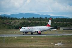 Austrian - OE-LWG - ERJ 195LR (Aviation & Maritime) Tags: oelwg austrian embraer embraer190200lr embraer195 erj erj195lr osl engm osloairportgardermoen oslolufthavngardermoen osloairport gardermoen norway